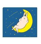月、夜、くつろぎ(個別スタンプ:21)