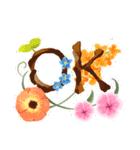 お「はな」し・花言葉と季節(個別スタンプ:2)