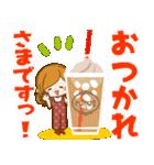 ♦♢大人女子のかわいい秋冬スタンプ♢♦(個別スタンプ:02)