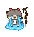 キジトラ猫リキちゃんのスタンプ