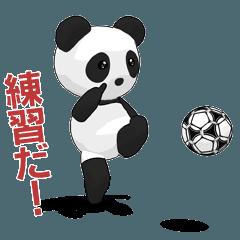 サッカー選手!パンダ!