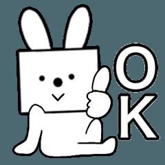 主婦が作ったデカ文字 四角いウサギ2