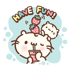 [LINEスタンプ] Majimeow happy summer vacation !