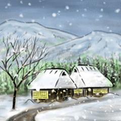 [LINEスタンプ] デジタルペンで描く日本の四季のたより墨絵 (1)