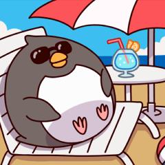 ものぐさペンギン(夏)