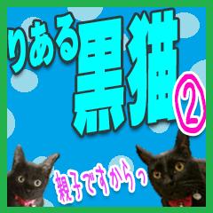 ★りある黒猫2★(デカ文字)~親子編~