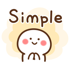 [LINEスタンプ] シンプル英語です。 (1)
