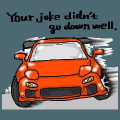 ロータリー車ファンに捧げるスタンプ2英語