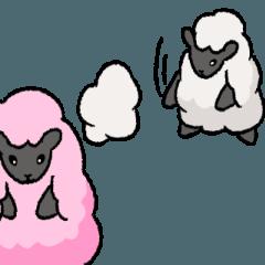 「動く」ふんわり羊