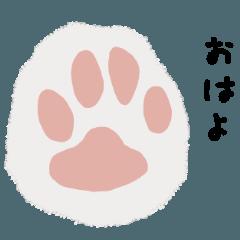 [LINEスタンプ] 猫の足の言葉