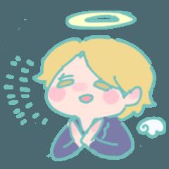 [LINEスタンプ] 天使くんの日常