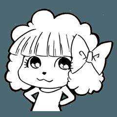 前髪ぱっつん、トイプードル