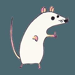 [LINEスタンプ] ハツカネズミのもにまう