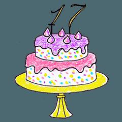 年齢をそえてお誕生日おめでとう