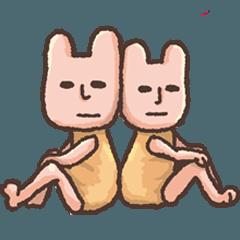 [LINEスタンプ] うさぎのうーさんと仲間たち
