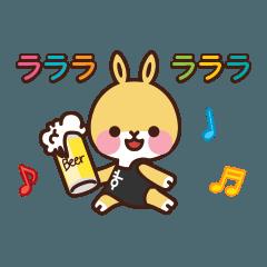 [LINEスタンプ] お酒好きタスタスうさぎ Part2