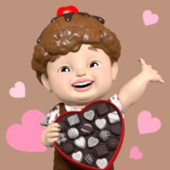 チョク君とチョコパーティー:3D ver.01
