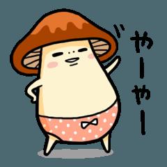 [LINEスタンプ] ぱんいちきのこ