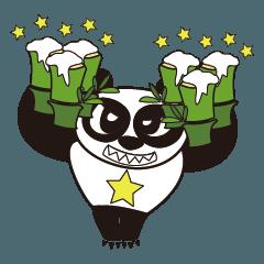 Angry Face Panda Beer
