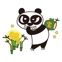 Angry Face Panda Lucky Charms