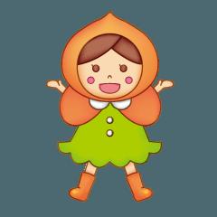応援大使「ほおずきんちゃん」のスタンプ