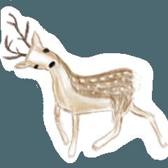 [LINEスタンプ] シュールな水彩の動物たち
