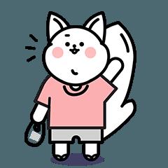 [LINEスタンプ] 白猫ヤミちゃんの日常