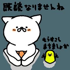 [LINEスタンプ] はらまきねこ(日常基本 既読編)