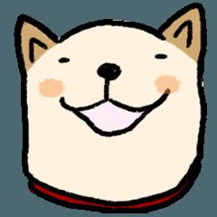 [LINEスタンプ] 白っぽい犬のあいづち