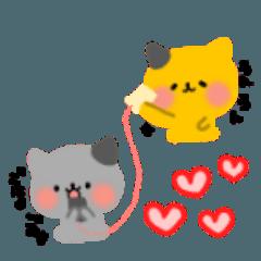 [LINEスタンプ] 双子猫のすずとらん2