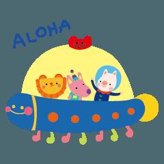 [LINEスタンプ] Phoebemooon - Happy Mooon Friends