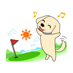 ゴルフ場のアイドル犬「ベル」&「ひめ」