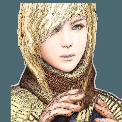 金髪女騎士 リアルっぽい絵のスタンプ