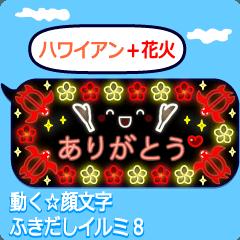 動く顔文字☆ふきだしイルミ8(夏)