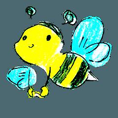 色んな動物の子供達のスタンプ。虫もね!