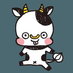 [LINEスタンプ] 地底の牛