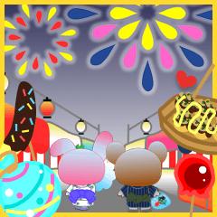 うさぎとくまの日々(お祭り)