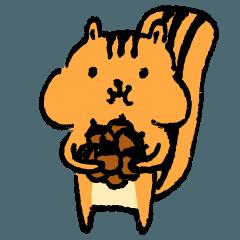 [LINEスタンプ] little squirrel-1