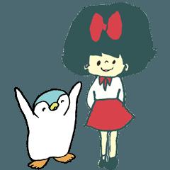 リボンちゃんとペンギンちゃん