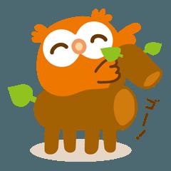 [LINEスタンプ] フクロウの子福_日常使えるスタンプ 2