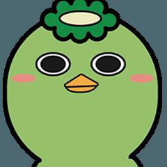 [LINEスタンプ] キモイかわいい_かっぱちん_01