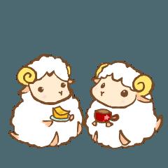 [LINEスタンプ] 夢見る羊のケーキ屋さん