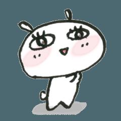 [LINEスタンプ] おじょーうさぎのシュールな日々