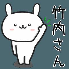 竹内(たけうち)さんが使うウサギ