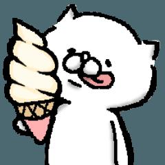 [LINEスタンプ] 白いアイツ〜夏のおわりに〜