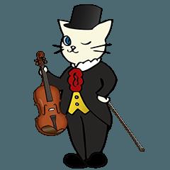 バイオリン奏者のネコ