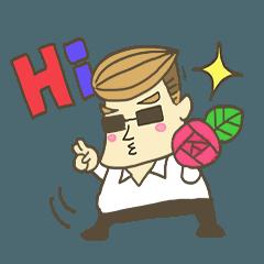 [LINEスタンプ] Mr.Bossの素晴らしき日々 (1)