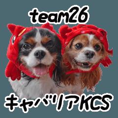 [LINEスタンプ] キャバリアKCS team26スタンプの画像(メイン)
