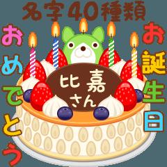 誕生日ケーキに名字を添えるさ~(沖縄版)