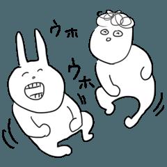 [LINEスタンプ] 山篭りのモジャうさ (1)